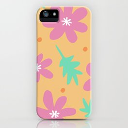 Beach floral [enlarged] iPhone Case