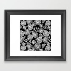 Romantic black garden Framed Art Print