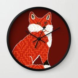 Foxy Cozy / Fox Den Wall Clock