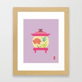 Chinese Antique - Lantern Framed Art Print
