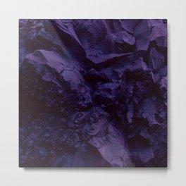 blue rock paper Metal Print