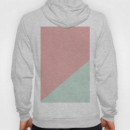 Soft Pink & Soft blue - oblique Hoody