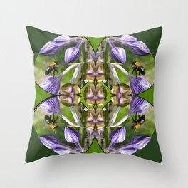 Garden Community Mandala Throw Pillow