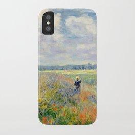 Poppy Fields near Argenteuil by Claude Monet iPhone Case