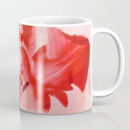 Transparent Red Flower Coffee Mug