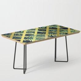 Fern Geometric Modern Illustration Coffee Table