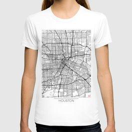 Houston Map White T-shirt