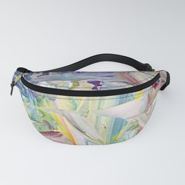 Abstracted Spring Iris Fanny Pack