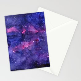 Galaxy Pattern Watercolor Stationery Cards