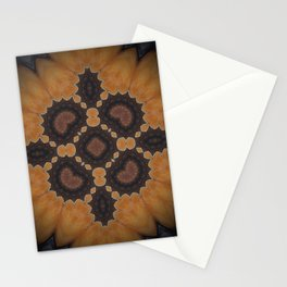 """Amber Rose Mandala (created from the painting """"Birth of a Mother"""") Stationery Cards"""