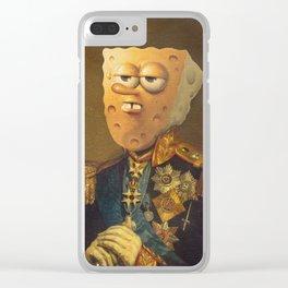 General Spongebob Portrait | Fan Art Painting Clear iPhone Case