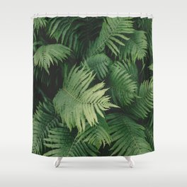 Reaching Ferns Shower Curtain