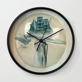 The Battle - Captain Ahab and Moby Dick Wall Clock
