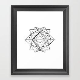 Hedron Cushion Framed Art Print