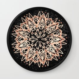 Metallic Mandala Wall Clock