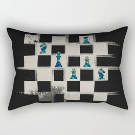 Chessboard and Marble Chess Pieces composition Rectangular Pillow
