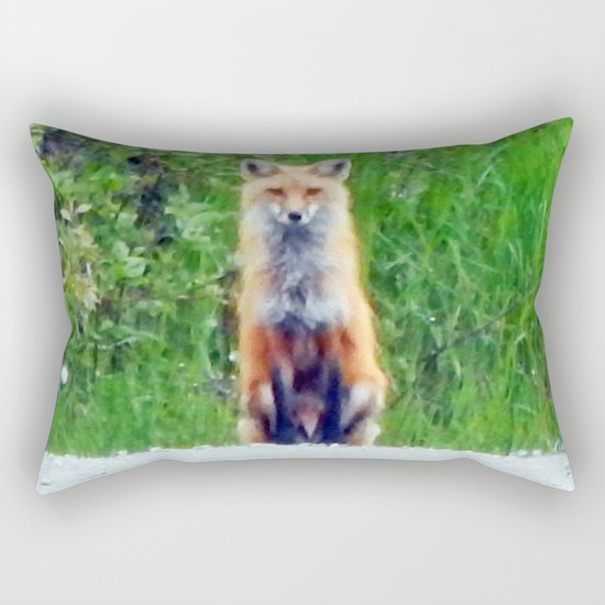Red Fox Rectangular Pillow