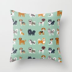 NORDIC DOGS Throw Pillow