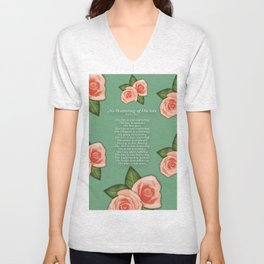 No Waivering of His love By Feon Davis Unisex V-Neck