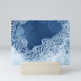soap foam surface Mini Art Print