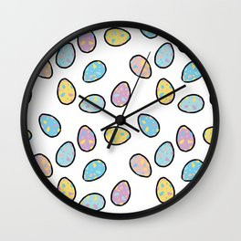 Speckled Egg Pattern Wall Clock
