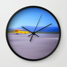 Just a Blur a classic two seater airplane Wall Clock