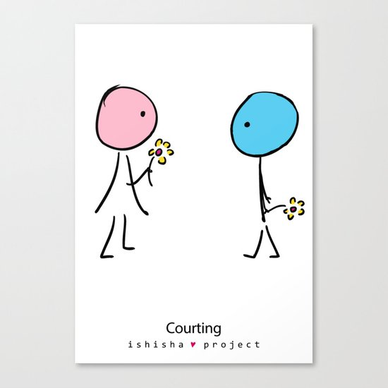 COURTING by ISHISHA PROJECT Canvas Print