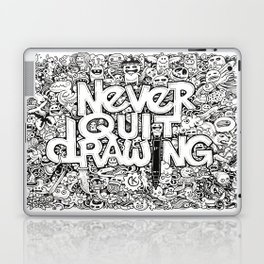 Never Quit Drawing Laptop & iPad Skin