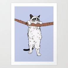 HANG IN THERE, GRUMPY! Art Print