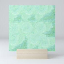 Blue Gray Cotton Fluff Mini Art Print