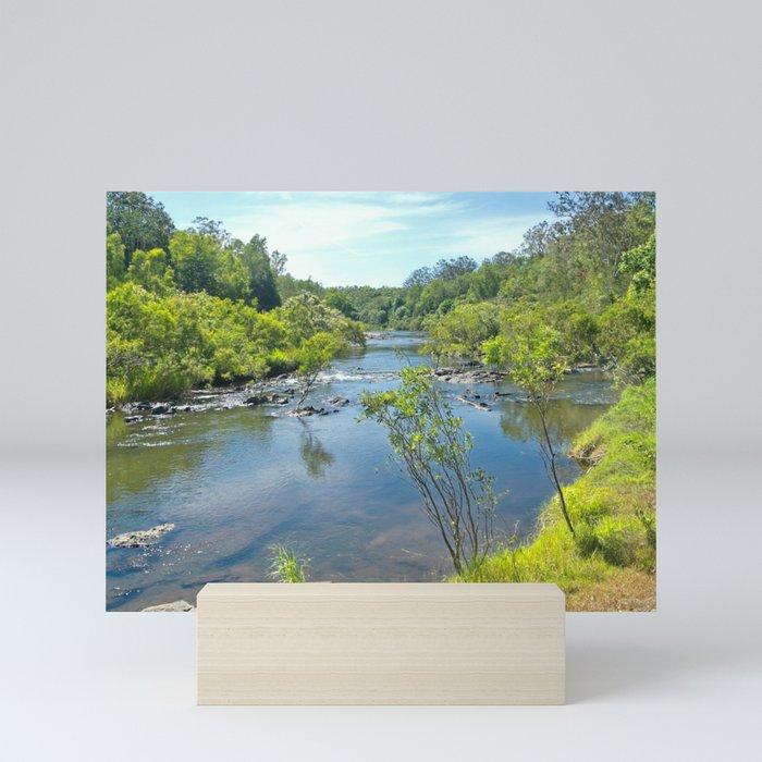 Magnificent tranquil river Mini Art Print