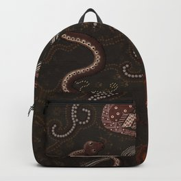 Three Billabongs - Australian Aboriginal Art Theme Backpack