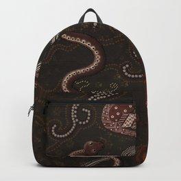 Three Billabongs - Australian Aboriginal Art Theme Backpack