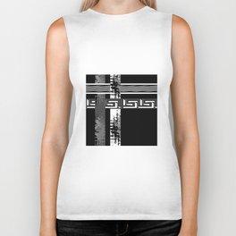 Creative Black and white pattern . The braided belts . Biker Tank
