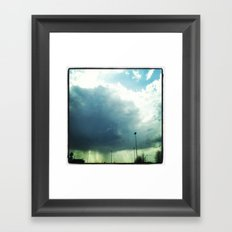 Wide Eyes Will Aways Brighten the Blue Framed Art Print