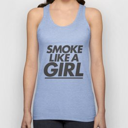 High - Smoke like a girl - Black Unisex Tank Top