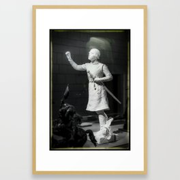 Jeanne d' ARC French knight Chinon France Framed Art Print