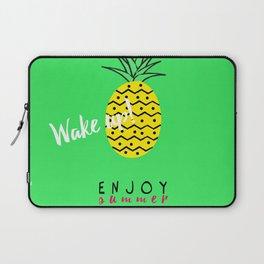 Fresh summer, wake up with ananas Laptop Sleeve