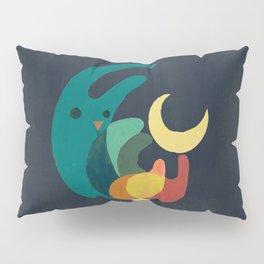 Rabbit and crescent moon Pillow Sham