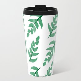 Green leaves and branch Travel Mug