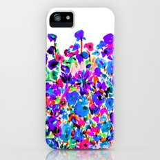 Flower Fields Blue Slim Case iPhone (5, 5s)