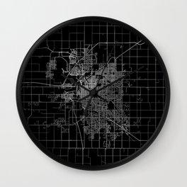 Lincoln map Nebraska Wall Clock
