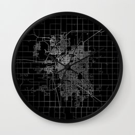 Lincoln map Nebraska Wall Clock