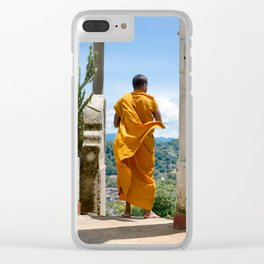 Buddhist Monk Clear iPhone Case