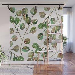 Silver Dollar Eucalyptus – Green Palette Wall Mural