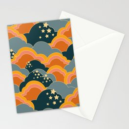 Retro 70s Inspired Boho Clouds Stationery Cards