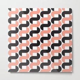 Geometric Pattern #184 (pink black knots) Metal Print
