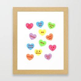 Sweet Hearts Framed Art Print
