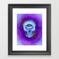Cyclopse Skull Acrylic Painting Framed Art Print