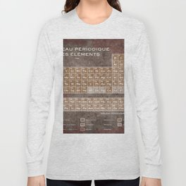 Tableau Periodiques Periodic Table Of The Elements Vintage Chart Science Long Sleeve T-shirt